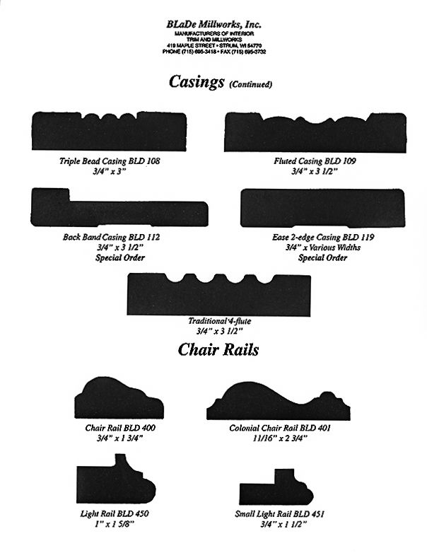 2 Casings and Chair Rails