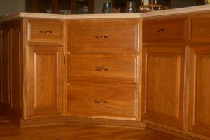 Cherry kitchen cabinets by Blade Millworks