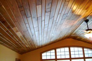 Cherry ceiling by Blade Millworks
