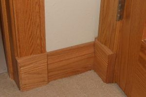 Colonial casing and plinth blocks by Blade Millworks