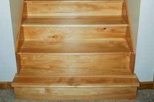 Hickory stairs by Blade Millworks