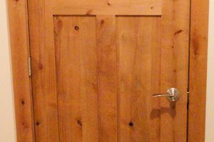 Knotty alder door by Blade Millworks