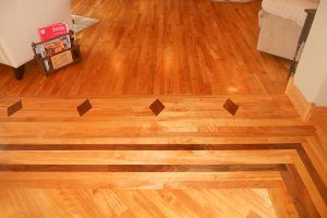 Red birch flooring by Blade Millworks