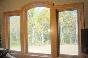 Red oak round top windows by Blade Millworks